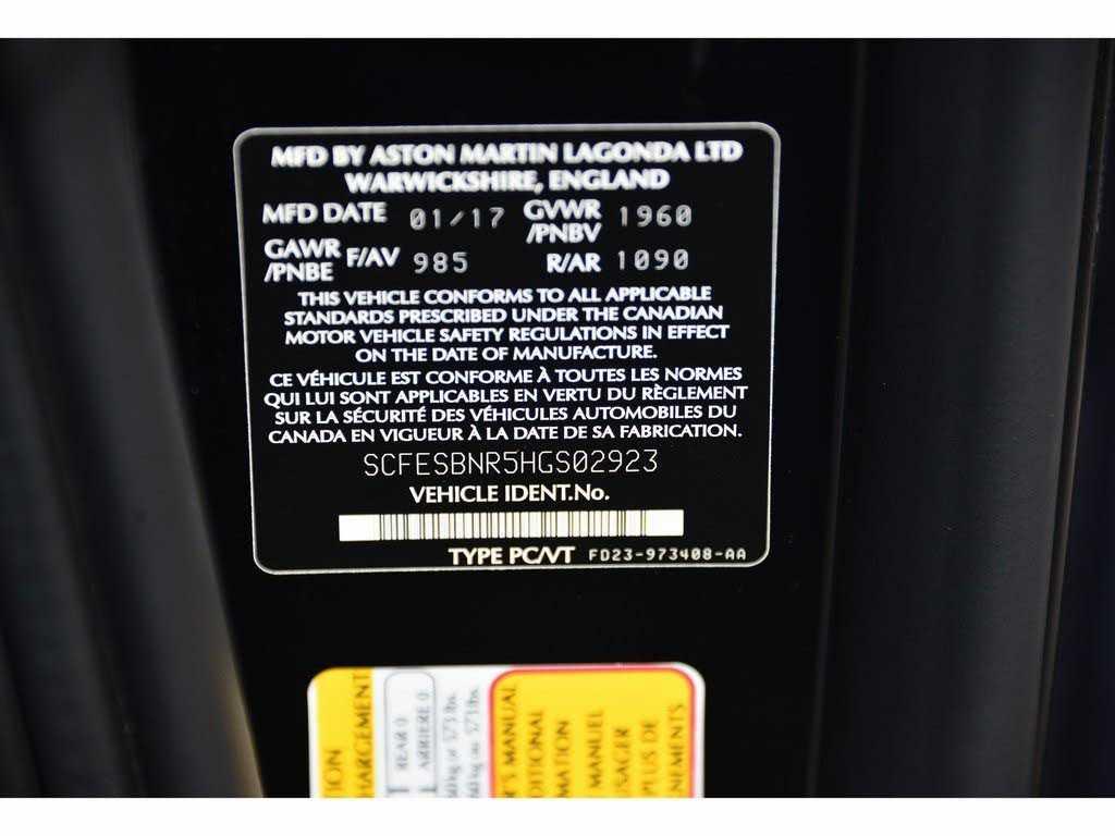 Aston Martin V12 Vantage 2017 $199007.00 incacar.com