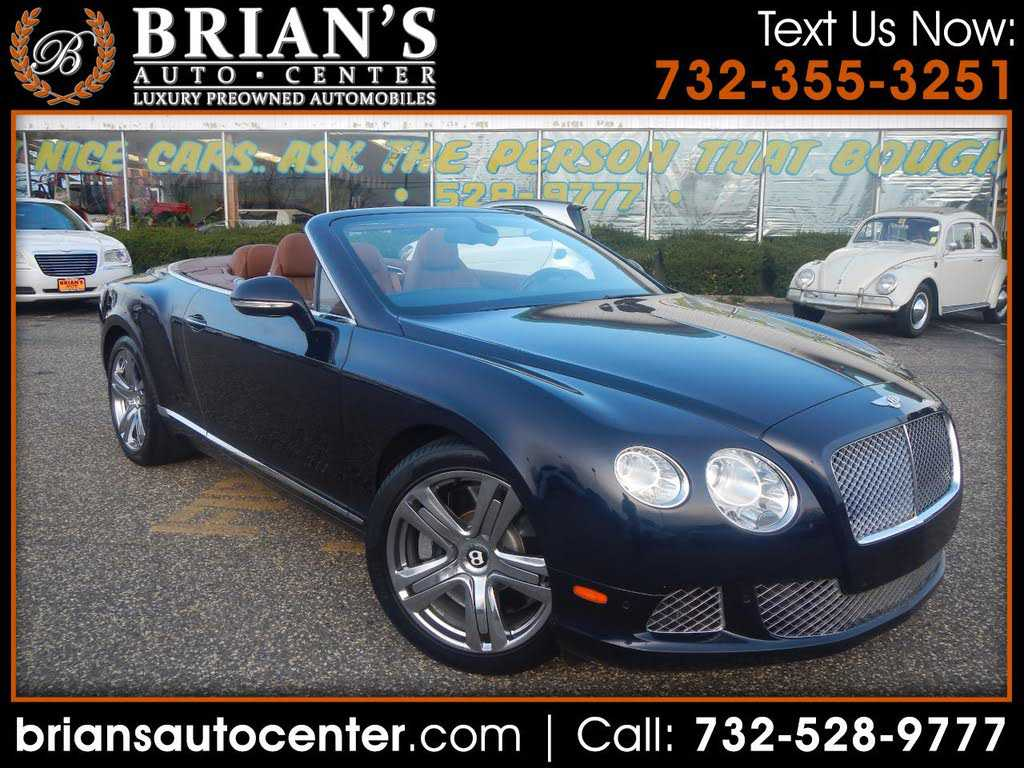 Bentley Continental 2012 $124900.00 incacar.com