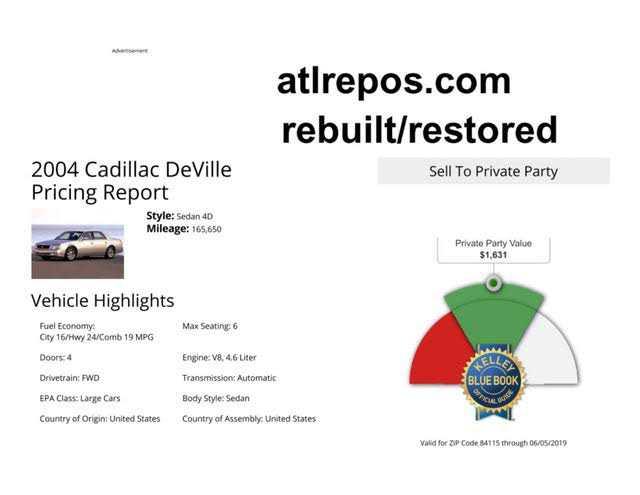used Cadillac De Ville 2004 vin: 1G6KD57Y64U251970
