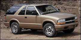 Chevrolet Blazer 2001 $577.00 incacar.com