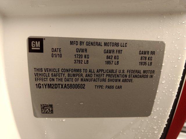 used Chevrolet Corvette 2010 vin: 1G1YM2DTXA5800602