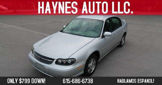 Chevrolet Malibu 2003 $799.00 incacar.com