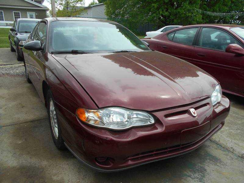 Chevrolet Monte Carlo 2001 $4450.00 incacar.com