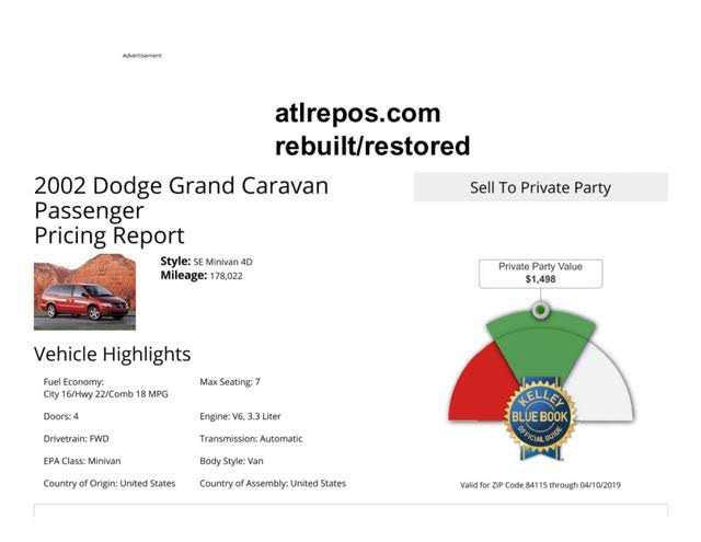 Dodge Caravan 2002 $1200.00 incacar.com