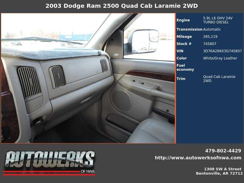 Dodge Ram 2500 2003 $12480.00 incacar.com