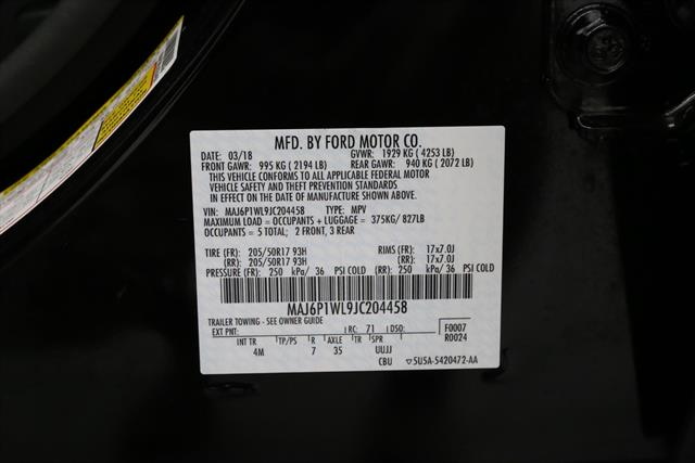 used Ford EcoSport 2018 vin: MAJ6P1WL9JC204458