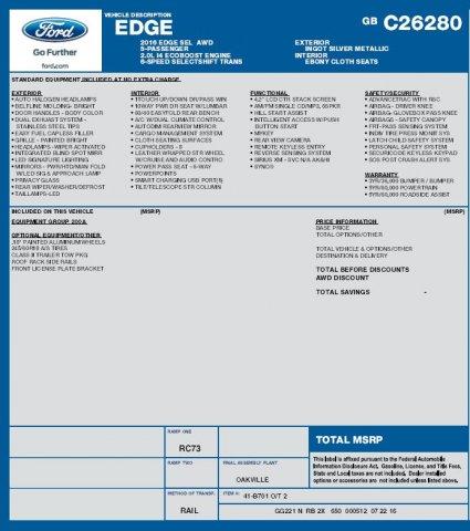 Ford Edge 2016 $25995.00 incacar.com