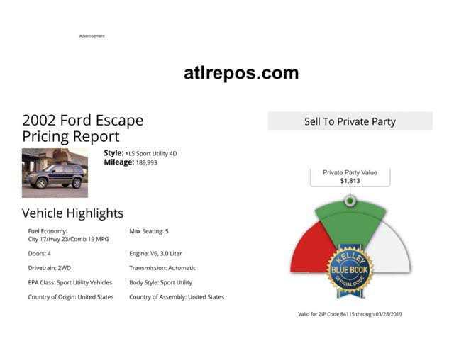 Ford Escape 2002 $1000.00 incacar.com