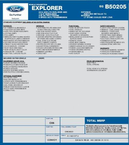 Ford Explorer 2014 $19995.00 incacar.com