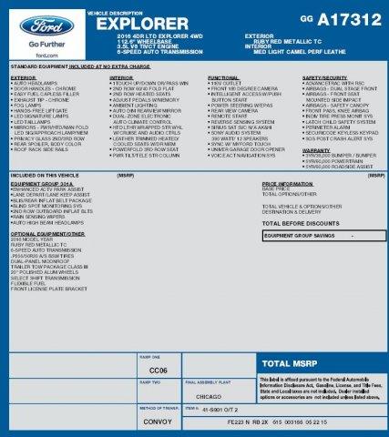 Ford Explorer 2016 $33995.00 incacar.com
