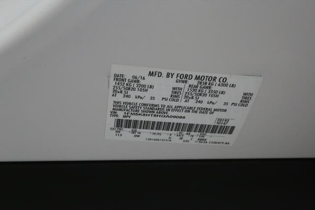 used Ford Explorer 2017 vin: 1FM5K8HT8HGA09086
