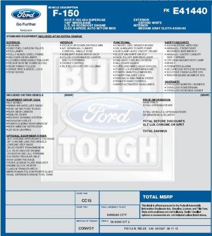 Ford F-150 2015 $29995.00 incacar.com