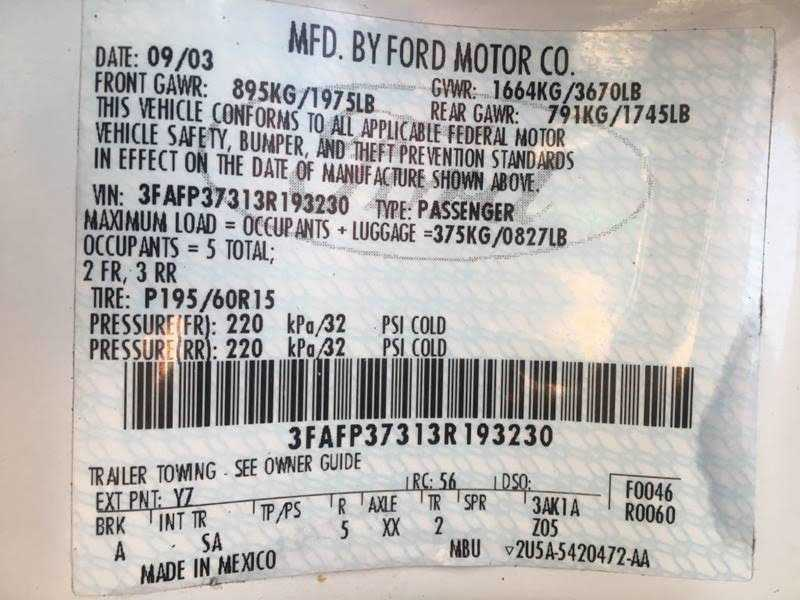 Ford Focus 2003 $1200.00 incacar.com