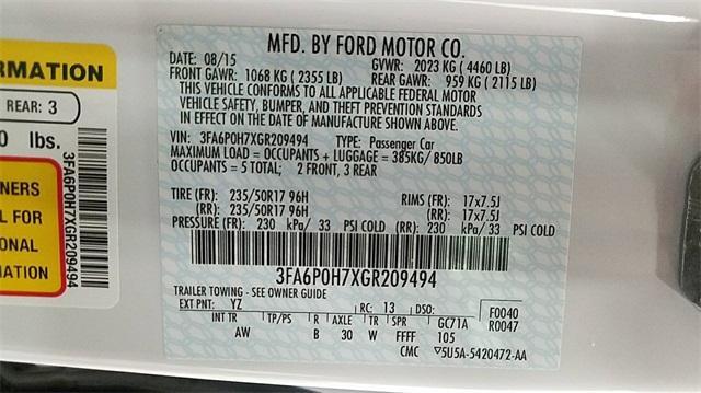 Ford Fusion 2016 $14500.00 incacar.com