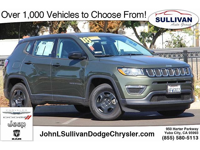 used Jeep Compass 2018 vin: 3C4NJCAB6JT468615