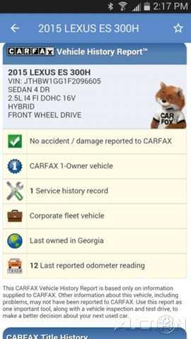 Lexus ES 2015 $28995.00 incacar.com