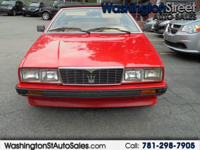 used Maserati Spyder 1986 vin: ZAMFL1108GA330961