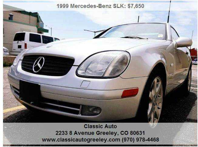 Mercedes-Benz SLK-Class 1999 $6950.00 incacar.com