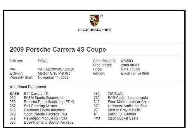 Porsche 911 2009 $53998.00 incacar.com