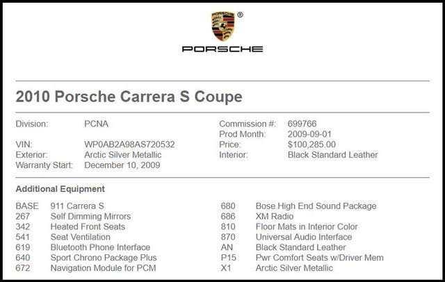 Porsche 911 2010 $60995.00 incacar.com