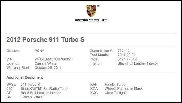 Porsche 911 2012 $102995.00 incacar.com