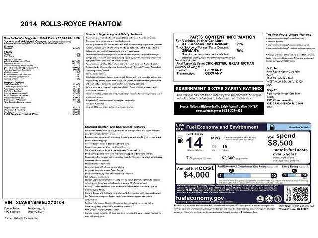 Rolls-Royce Phantom 2014 $219888.00 incacar.com