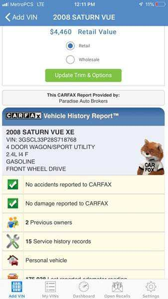 Saturn Vue 2008 $1295.00 incacar.com