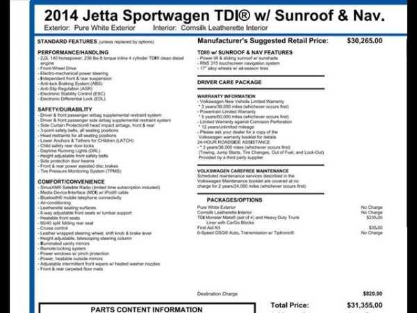 Volkswagen Jetta 2014 $13495.00 incacar.com