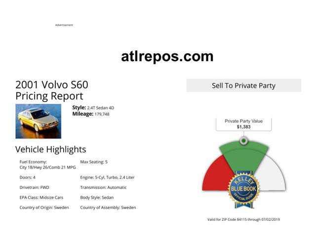 Volvo S60 2001 $1000.00 incacar.com