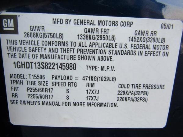 Oldsmobile Bravada 2002 $4435.00 incacar.com