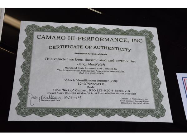Chevrolet Camaro 1969 $26100.00 incacar.com