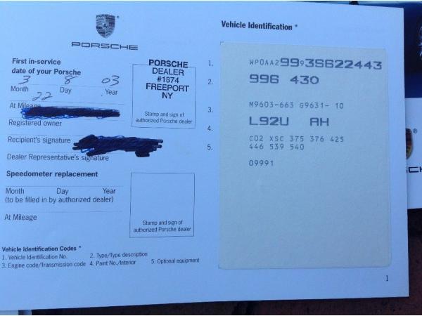 Porsche 911 2003 $41900.00 incacar.com